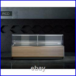 Pico Deep Serve Over Counter Meat Fish Diary Display Square Glass Fridge 1.96m