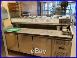 Pizza/Salad Prep Station/Counter Granite top Refrigerated counter top display