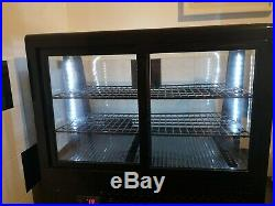 Polar Refrigeration Counter Top Glass Display Fridge with lights
