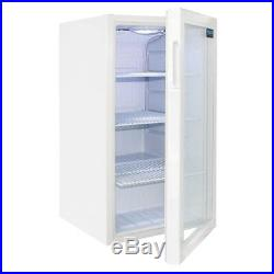 Polar Under Counter Display Fridge in White Finish with 1 Door Painted Steel