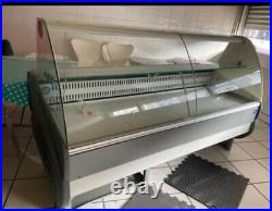 Refrigerated Serve Over Counter Display Curve Glass