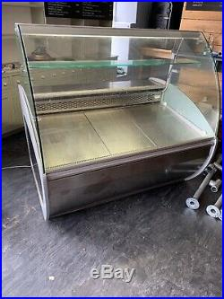 Refrigerated Serve Over Display Counter Curved Glass Butchers Delicatessen 150cm
