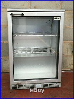 Rhino Silver Single Door Drinks Display / Under Counter Bar Chiller LED