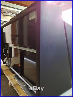 SERVE OVER COUNTER, FOOD DRINKS DISPLAY, MEAT FRIDGE IN BLACK OR WHITE 2 m
