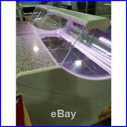 SERVE OVER COUNTER MEAT DIARY FISH DISPLAY CURVED GLASS SHOP FRIDGE 2.5m