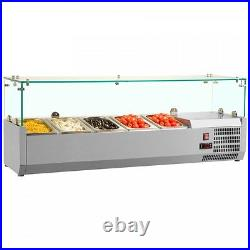 Salad Pizza Prep Refrigerated Display Counter 6 Ft