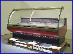 Serve Over Counter 2.5m long Display Fridge Meat Chiller in red or grey