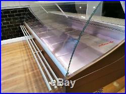 Serve Over Counter 3.0m Display Fridge Meat Chiller Brown Wooden Effect