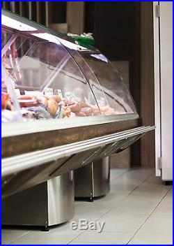 Serve Over Counter 3.0m Display Fridge Meat Chiller Curved Glass