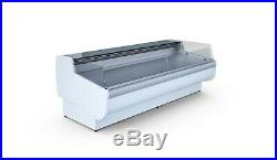Serve Over Counter Basia 2.5m Self Service (meat Display) White Or Black
