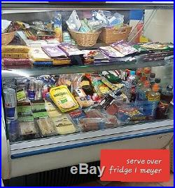 Serve over counter display fridge