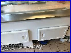 Serve over counter display fridge used good working order