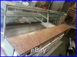 Shop over counter refrigerated display chiller freezer used