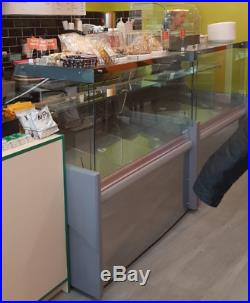 Straight Glass Serve Over Counter Display Fridge 4ft Kebab Cafe Sandwich 1280mm