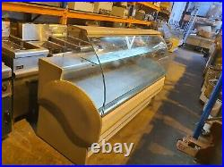 Trimco Commercial 1.8 Metre Serve Over Curved Glass Display Fridge Counter
