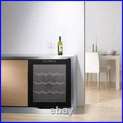 Wine Cooler Fridge Touch Screen LED Display Cabinet Chiller Counter Low Energy