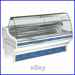 Zoin Jinny Refrigerated Serve Over Counter White Commercial Display Shop Chiller