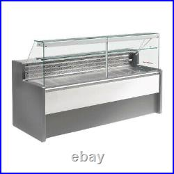 Zoin Serve Over Counter Display Fridge Grey Marble 1500mm 167L