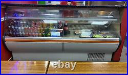 Zoin serve over counter display fridge with granite top